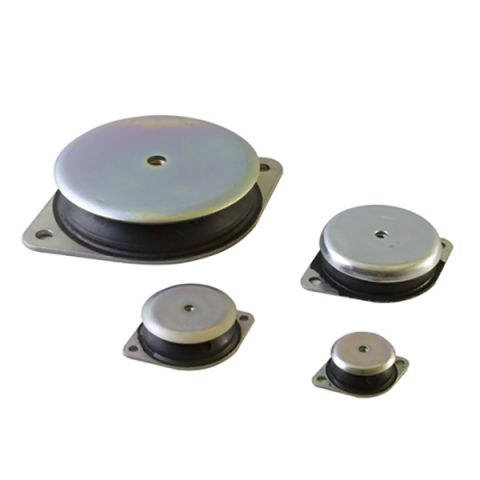 Metal base rubber mounts - MGM