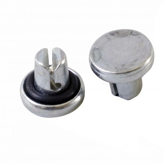 Steel fasteners for turning vanes